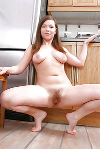 Big tits and hairy pussy 9 (Kitchen)