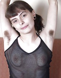 Hairy armpit women in see through or lingerie