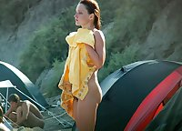 her first nudist photos